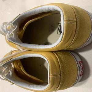 Vans Old Skool Ochre Yellow Size 12 Lightly Worn